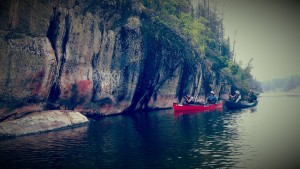 Pictographs and Canoes on the Bloodvein