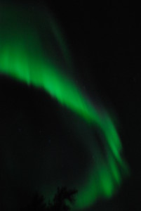 Northern lights over the Bloodvein