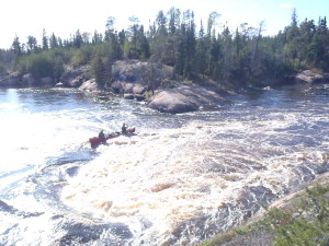 The Boils have alot of power and require skills to navigate with a loaded canoe